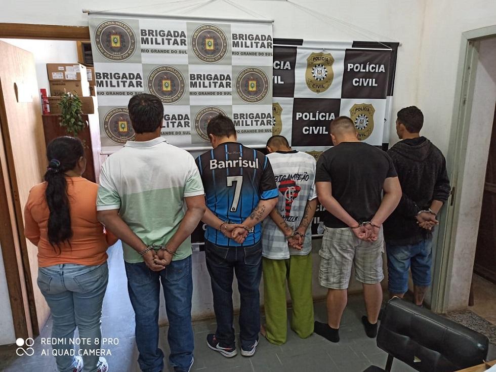 Seis são presos em Estrela