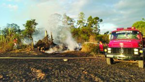 Triplica atendimento a incêndios em vegetação