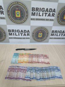 Assaltante é preso logo após assaltar loja em Estrela