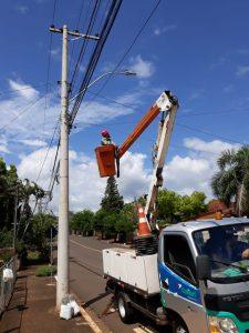 Manutenção da iluminação pública de Estrela está sendo executada