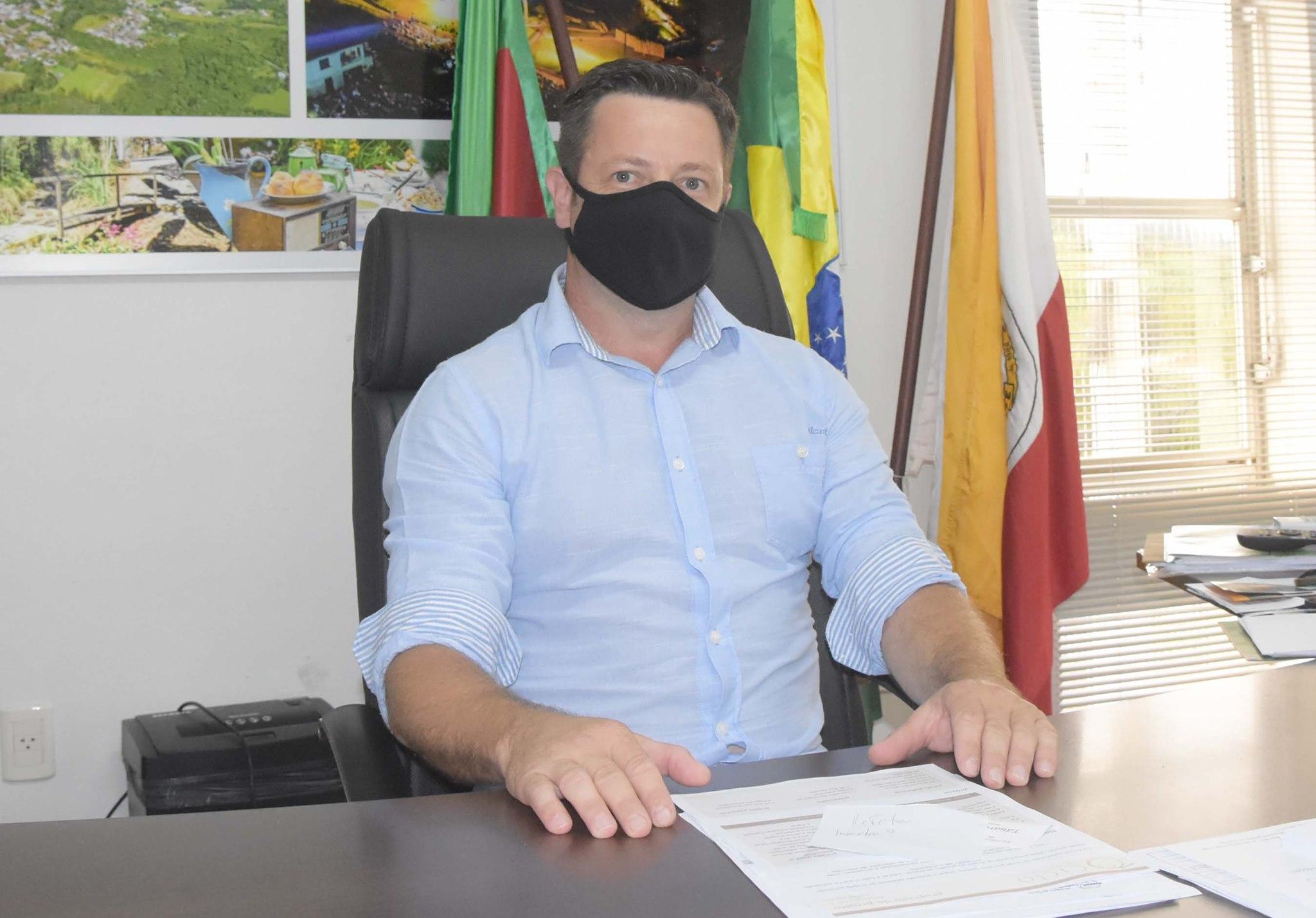 Prefeito de Imigrante, Germano Stevens, está afastado devido à Covid-19