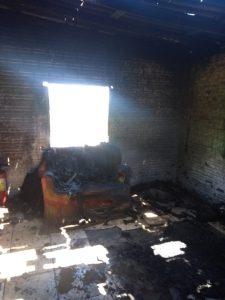 Incêndio atinge casa no Faxinal, em Bom Retiro do Sul
