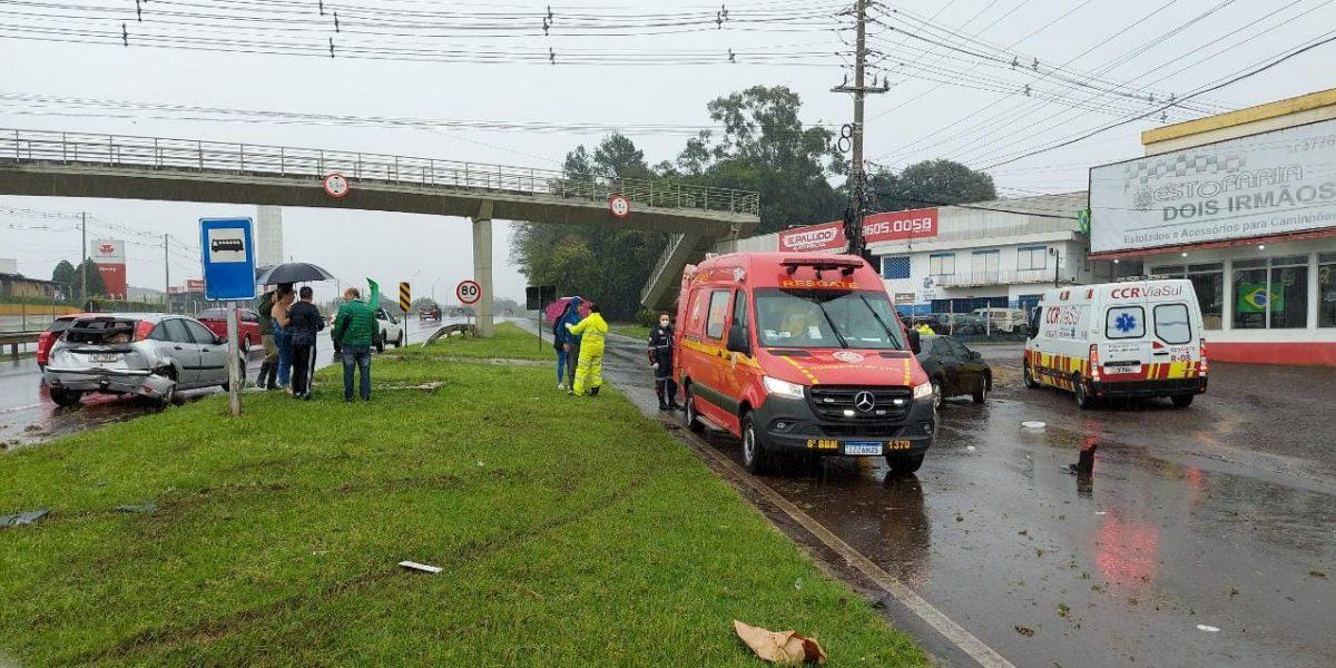 Acidente ocorreu na tarde desta terça-feira, na BR-386 (Foto: Divulgação)